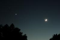 Earthshine Moon Venus